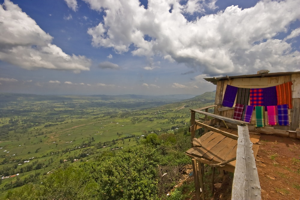 ViewPoint of The Great Rift Valley with a Curio Ship, Kenya