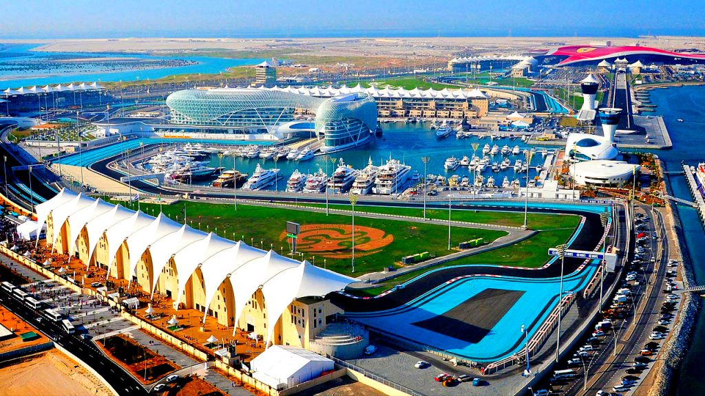 Yas Island aerial view - reasons to visit Abu Dhabi
