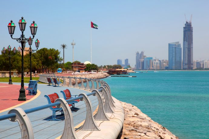 magnificient promenade in Abu Dhabi - reasons to visit Abu Dhabi