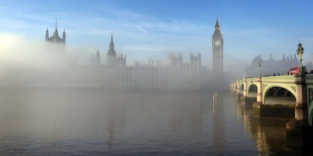 The Palace of Westminster shrouded in fog early this morning, central London. | Photo Source: Huffingtonpost.com