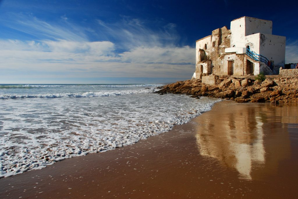 House by the sea. Sidi Kaouki, Essaouira, Morocco